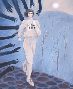 Illustration of Kathrine Switzer