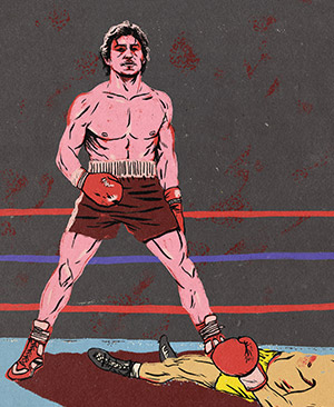 Illustration of Ray Mancini