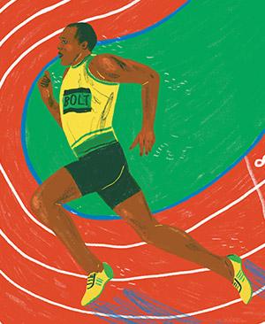 Illustration of Usain Bolt